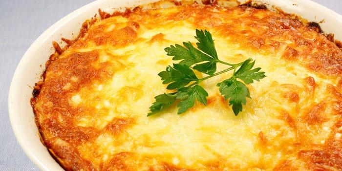 запеканка с фаршем и сыром