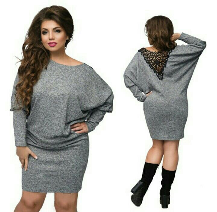 Модное зимнее платье