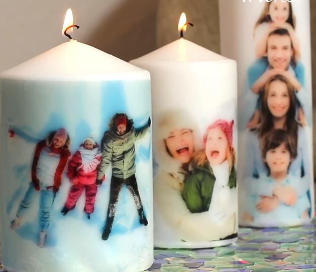 Фото на свече