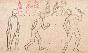 Фигура человека в движении