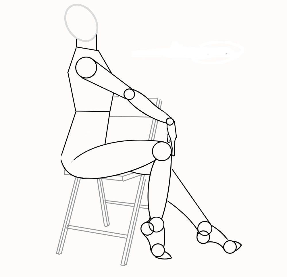 Фигура сидящего человека