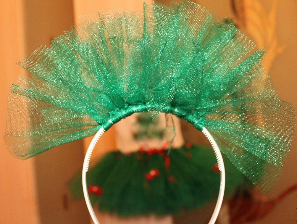 Ободок для костюма елочки