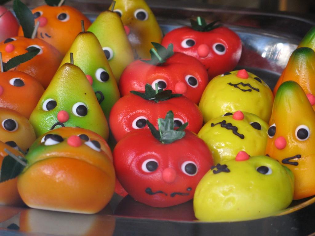 Фигурки Овощи из марципана