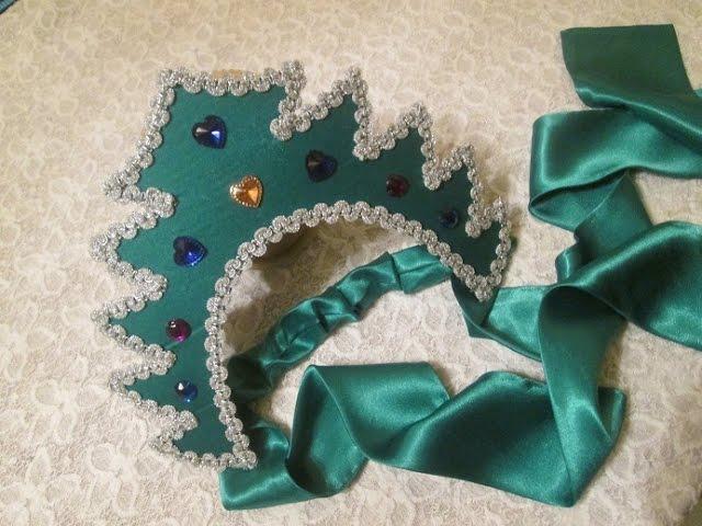 Кокошник для костюма елочки
