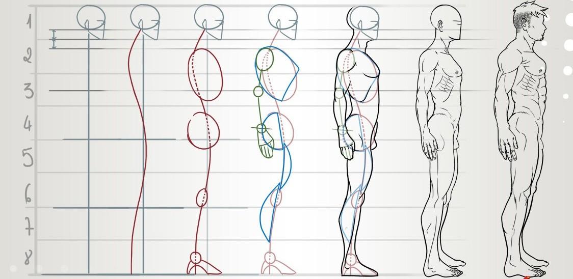 Фигура человека сбоку