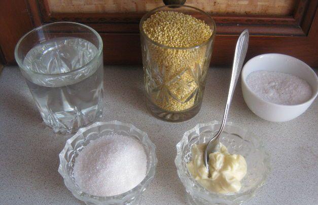 Ингредиенты для каши на воде