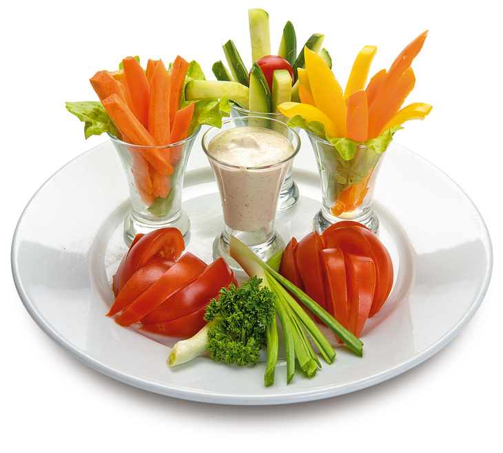 Красивая нарезка из овощей