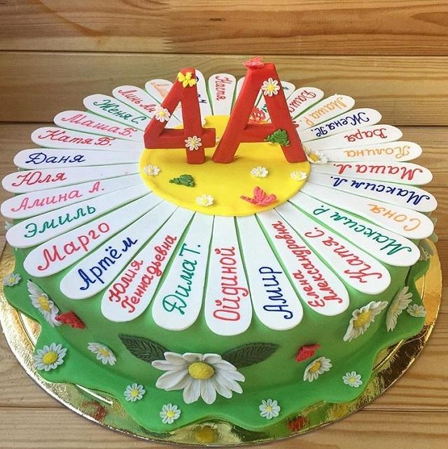 Украшение торта с именами