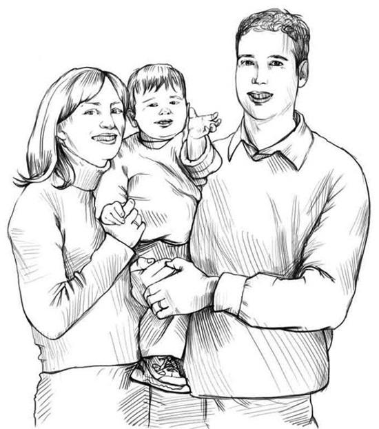 Группа людей на рисунке