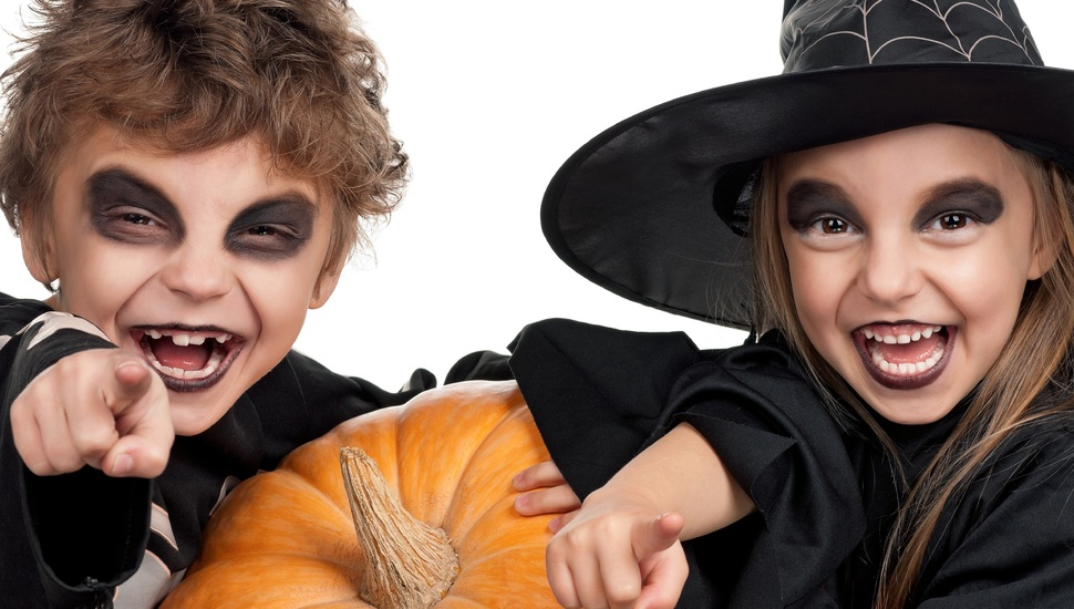 Детский грим на Хэллоуин