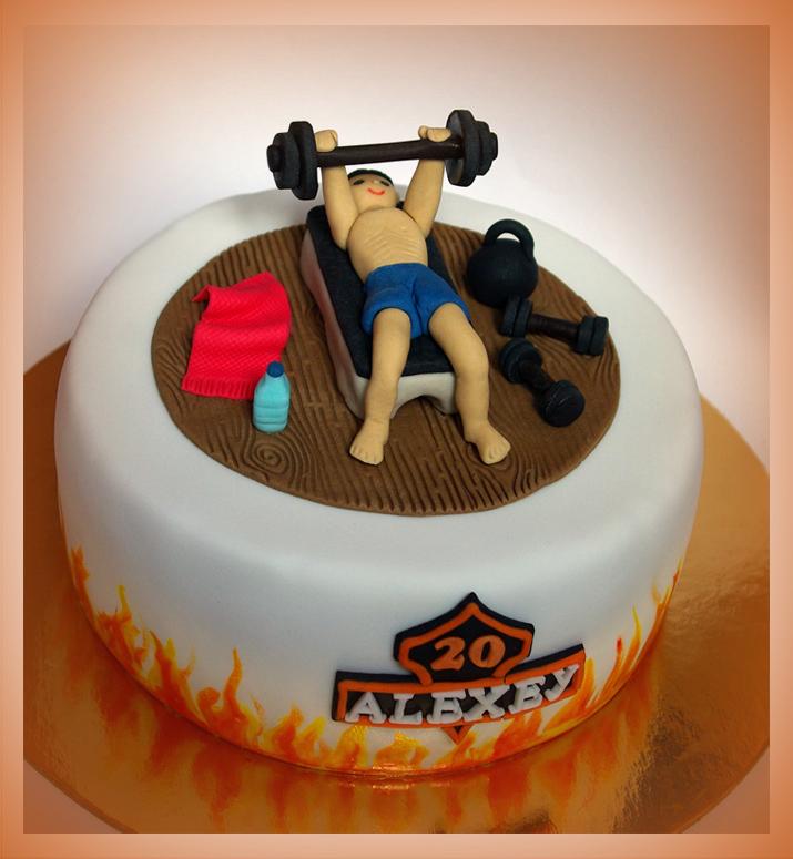Украшение торта в виде спортсмена
