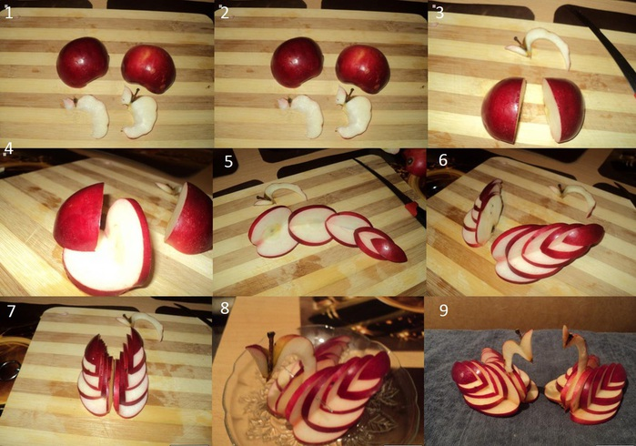 Как нарезать яблоко