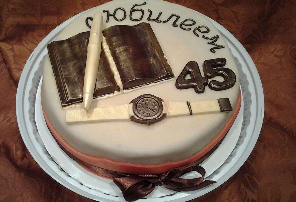 Украшение торта к юбилею