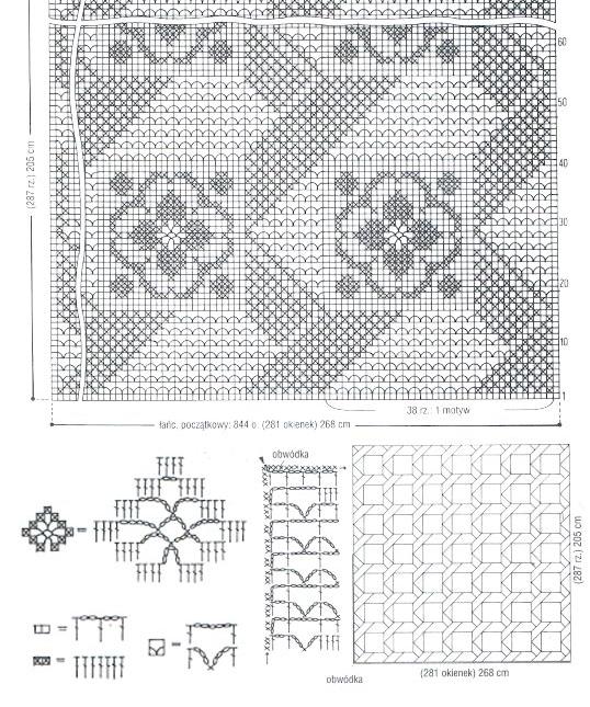 Схема скатерти из узоров