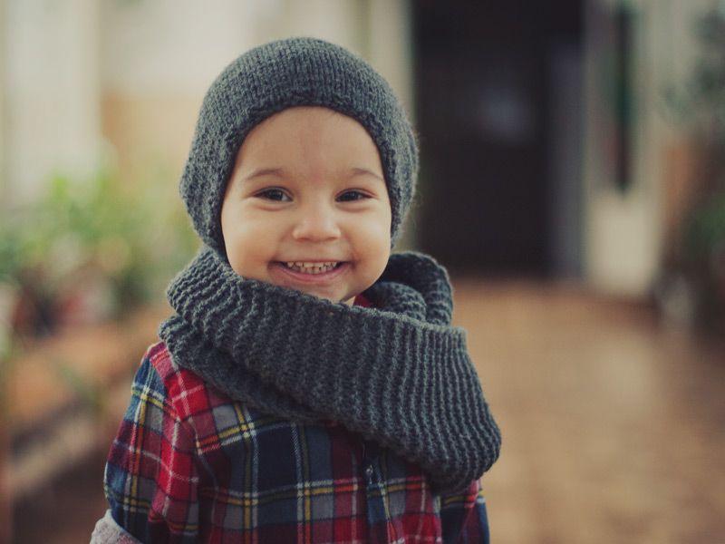 Детский шарф-снуд