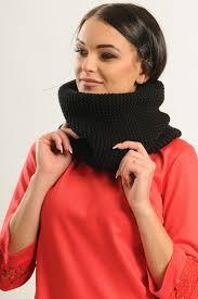 Черный шарф-снуд