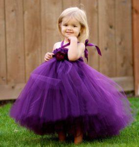 Для девочки фиолетовое платье