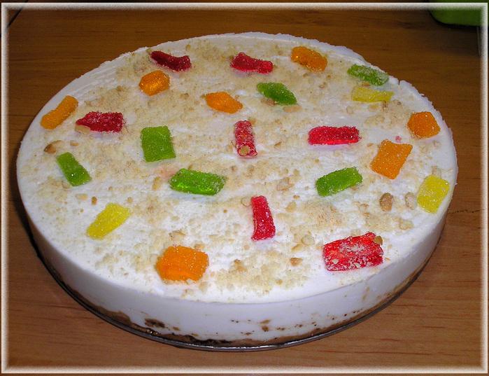 Украшение торта мармеладом