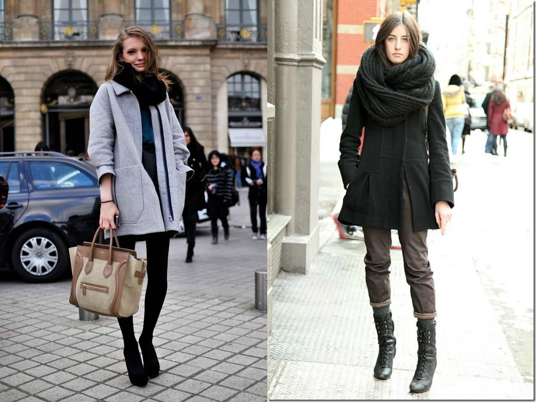 Снуд с пальто