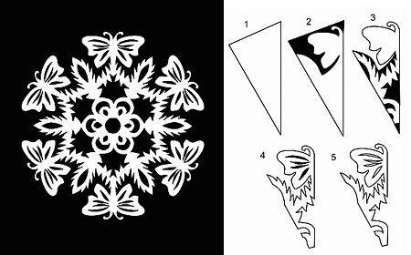 снежинка бабочка