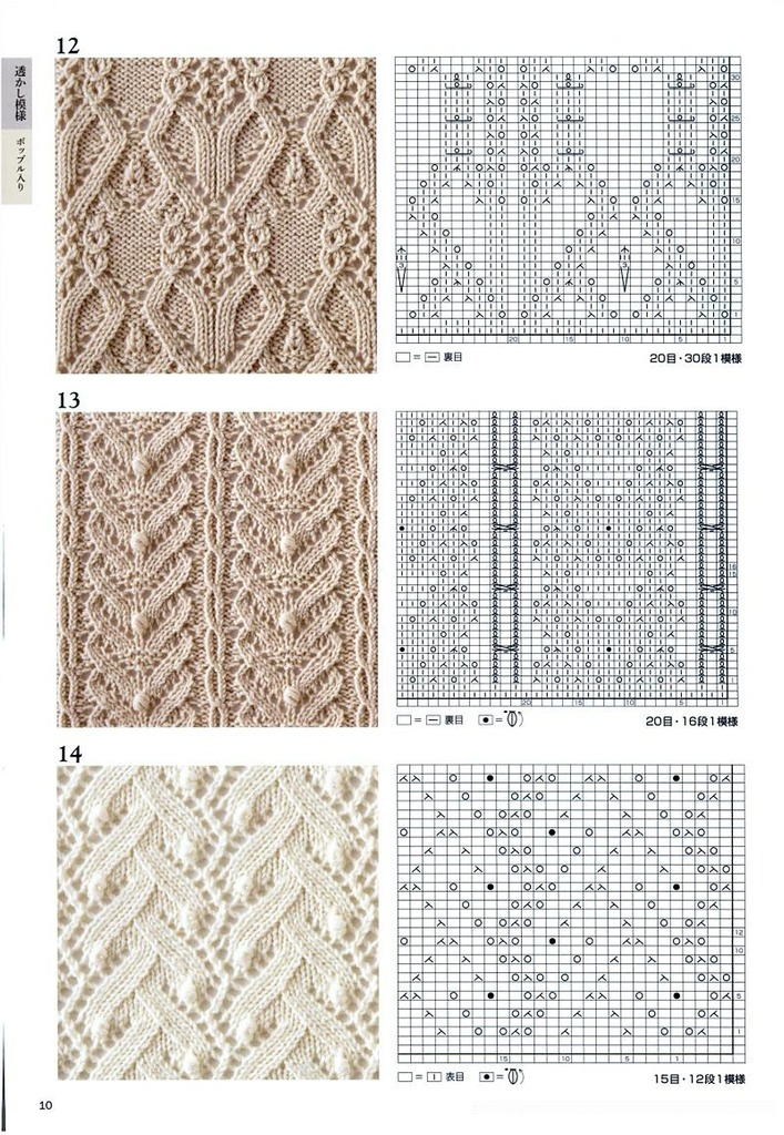 Образцы рисунков для вязания