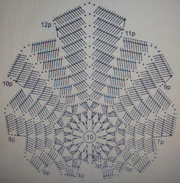 Схема оригинальной салфетки