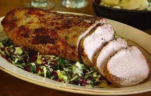 Запеченное свиное мясо
