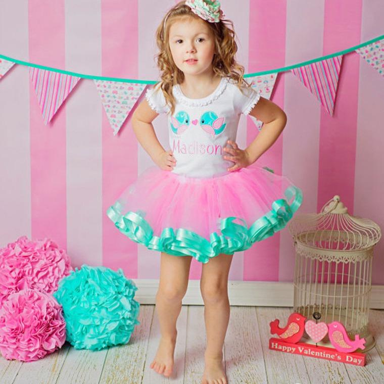 Детская юбка с оборкой