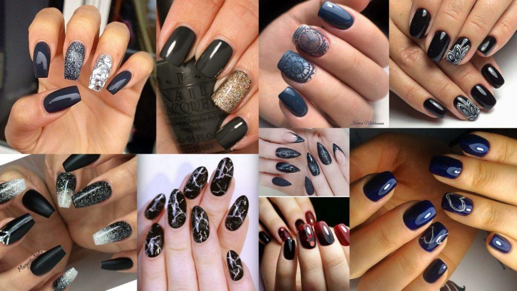 Черные и темные ногти