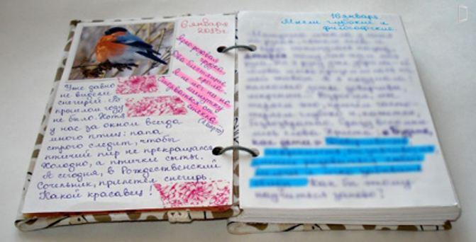 Выражение своих мыслей в дневнике