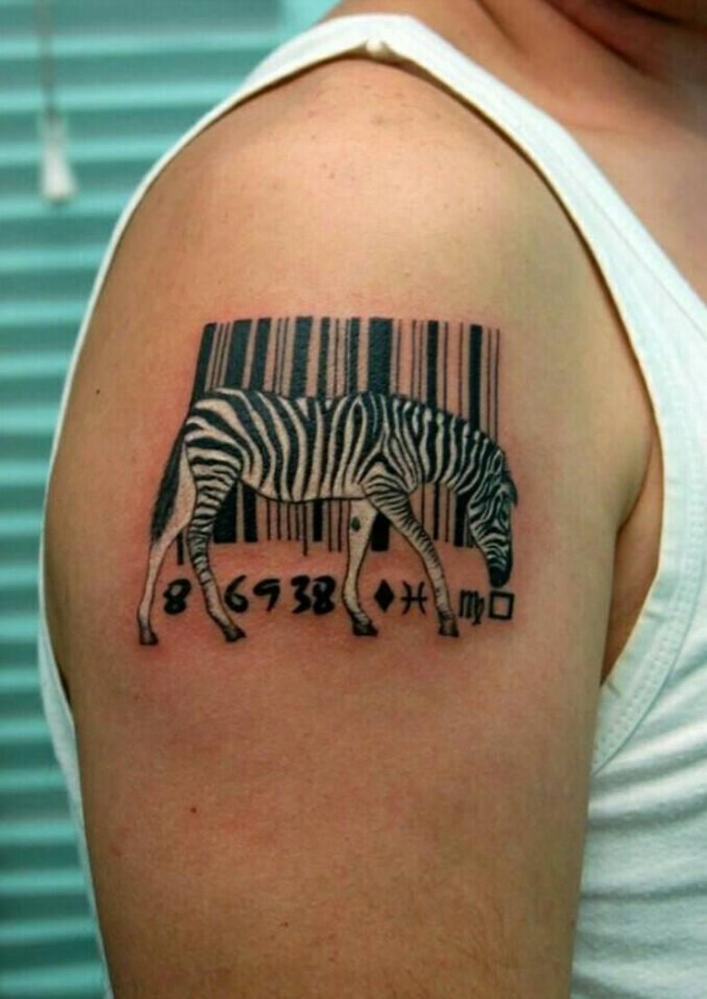 Зебра со штрихкодом