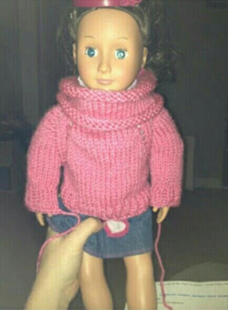 Кофточка для куклы