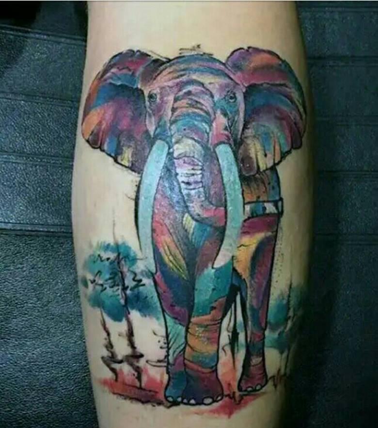 Акварельный слон