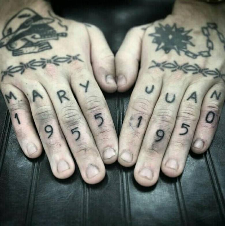 Тюремное тату на кистях