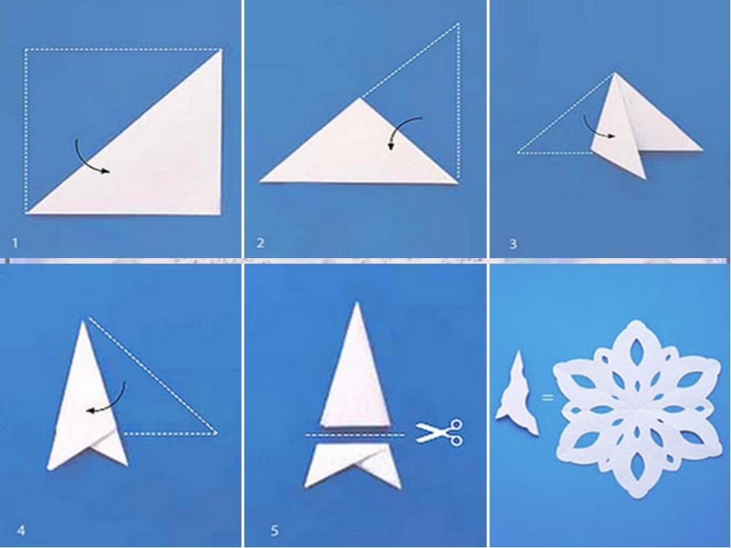 шаблон снежинки из бумаги