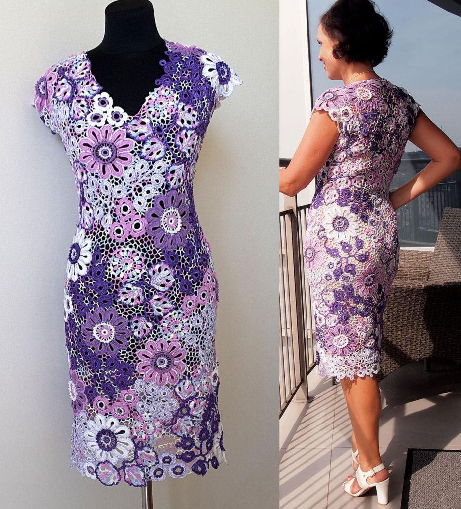 Платье ирландской вязки