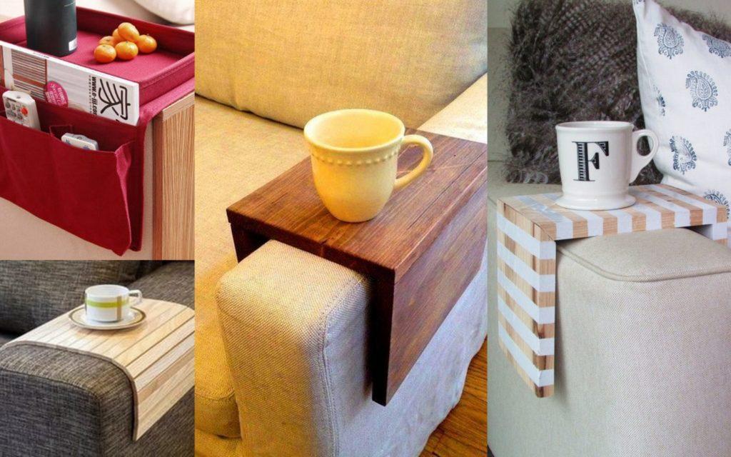 Подставка под чашки для кресла или дивана