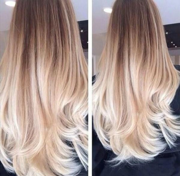 Омбре на русые волосы