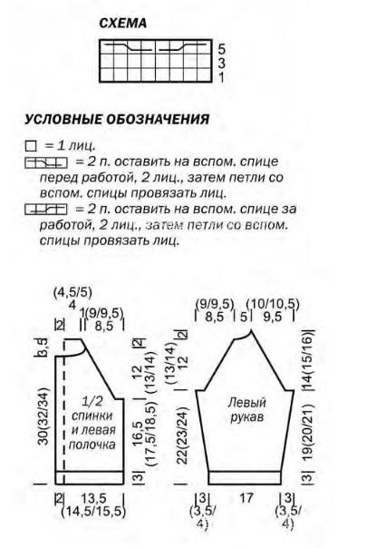 Схема кардигана для мальчиков