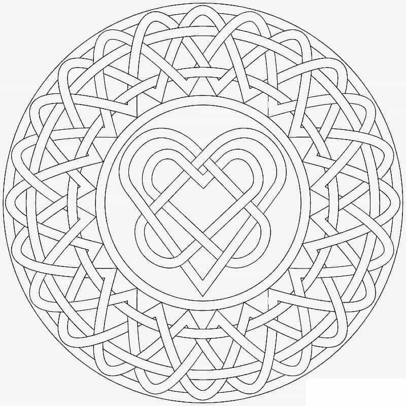 Круглая схема мандалы для любви