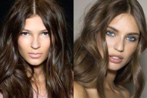 Темно-русый цвет волос у девушек