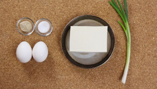Ингредиенты для омлета с тофу