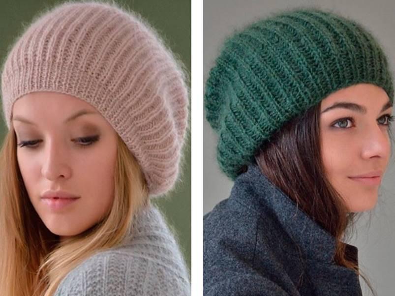 Вязание шапки платочной вязкой видео