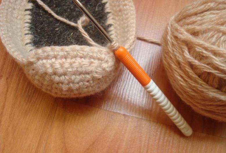 Вязание мыска