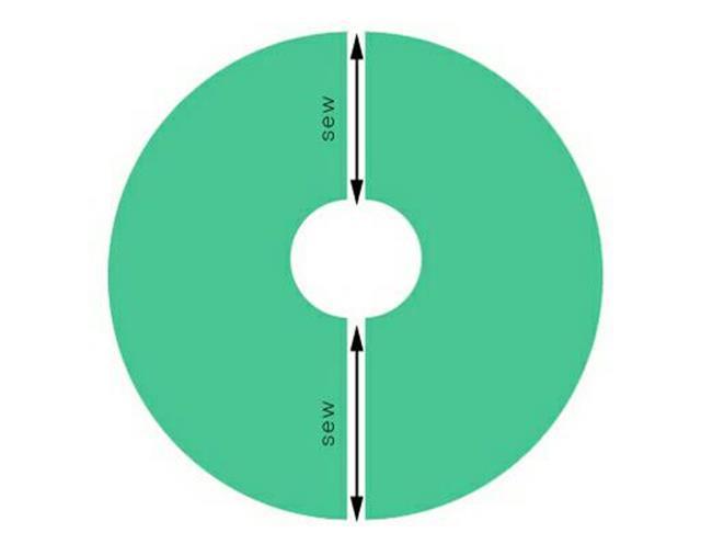 Вы должны получить 4 одинаковых круга с отверстием посередине