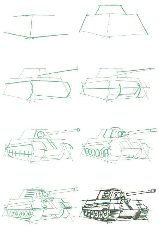 Рисунок танка Пантера