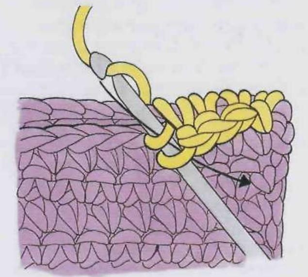 Шов из столбиков без накида