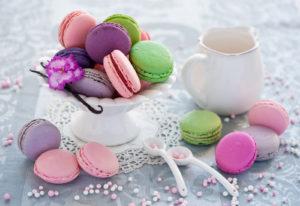 Разноцветные круглые десертики