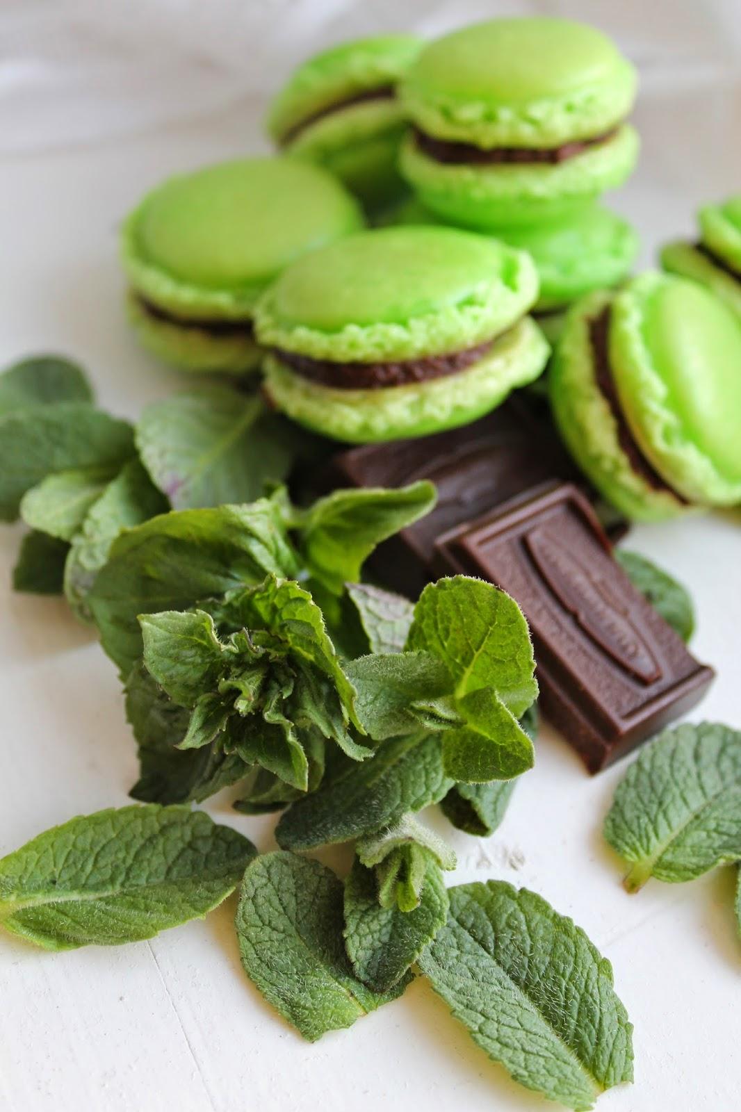 мятный вид и кусочек шоколадки