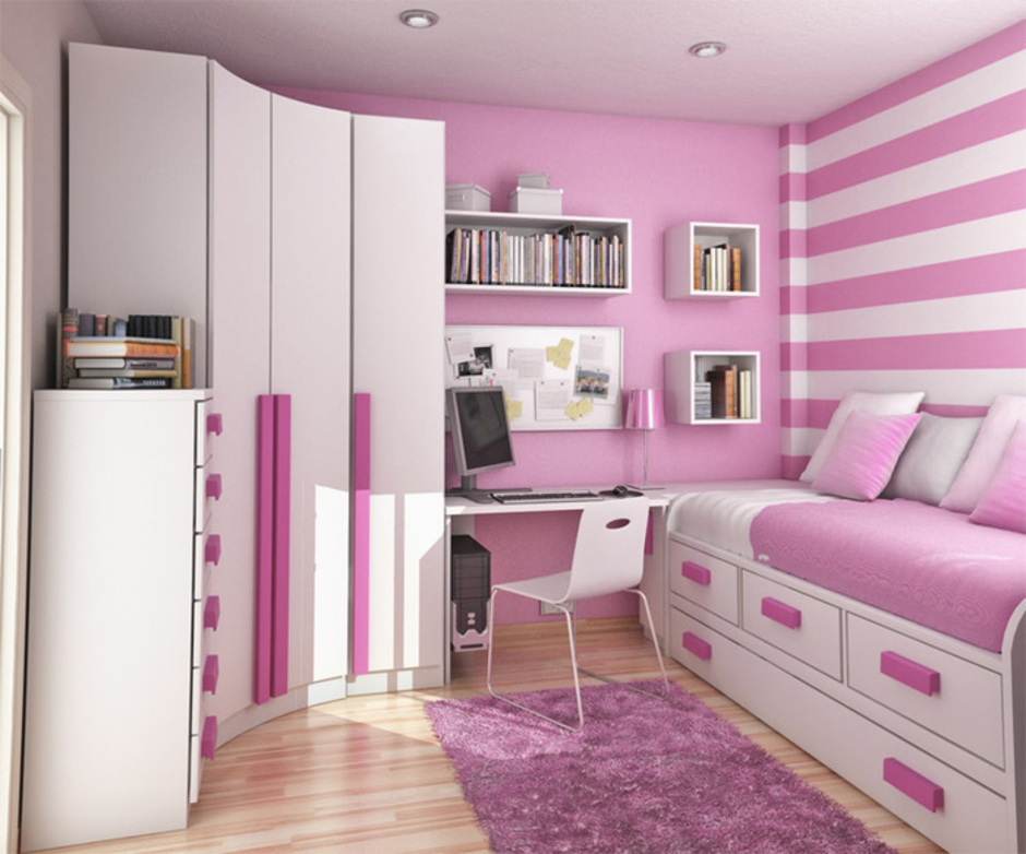 ярко розовый дизайн